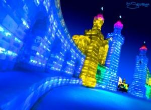 harbin-ice-city-china-blue-towers-glow-by-nick-saglimbeni