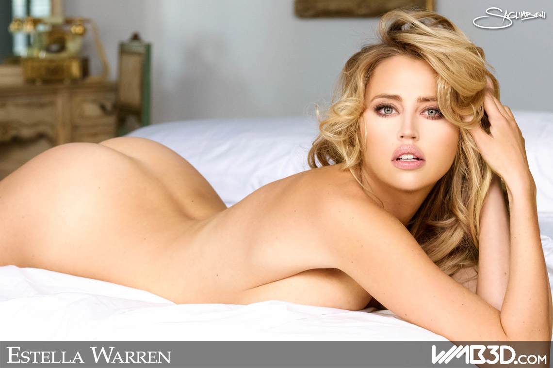 wmb-3d-worlds-most-beautiful-estella-warren-naked-nude-socks-bed-sexy-white